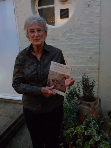 Elizabeth Allen with Chepyng Walden book
