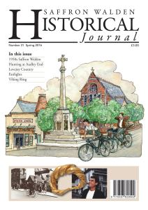 SWH Journal No 31 - front cover